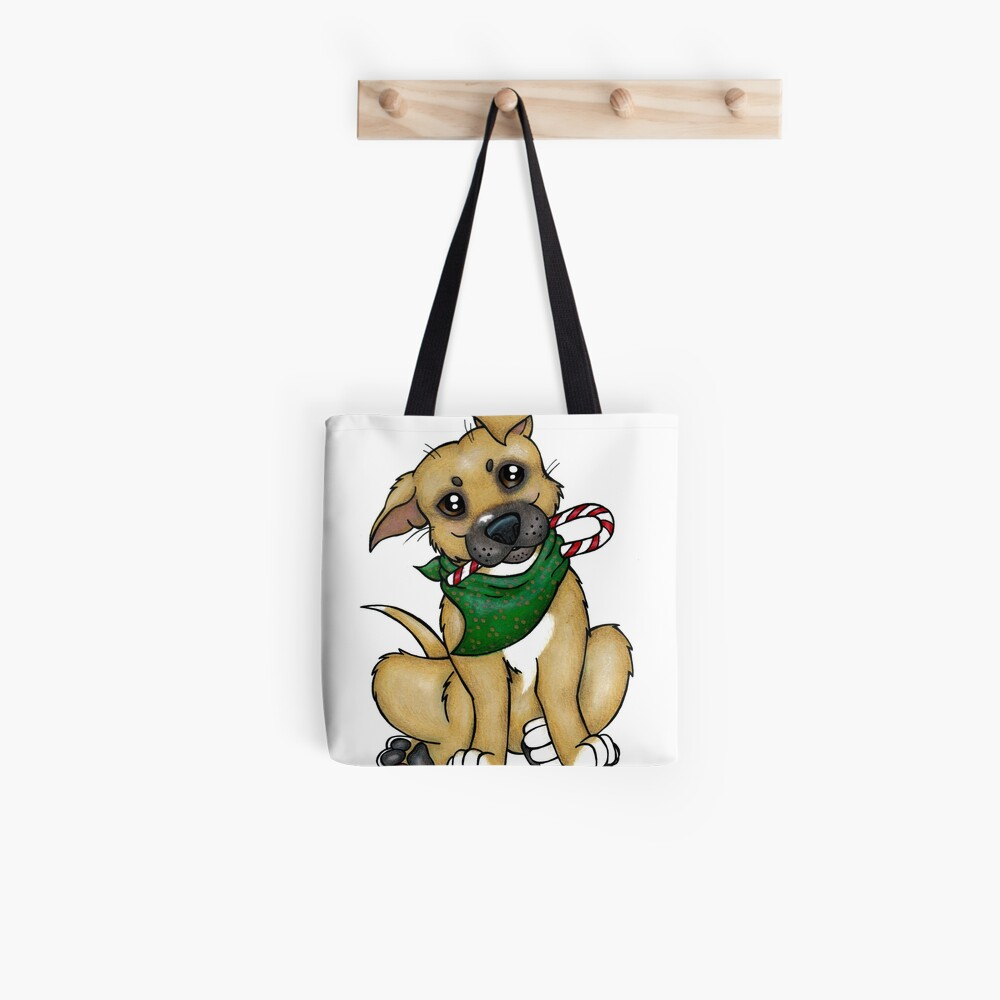 A Christmas Pittie (Pit Bull) Tote Bag