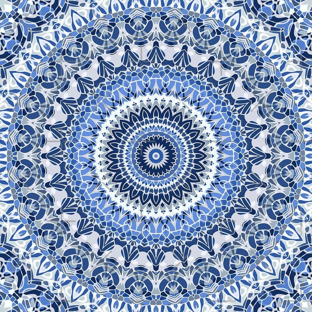 By the Ocean Mandala by Kelly Dietrich