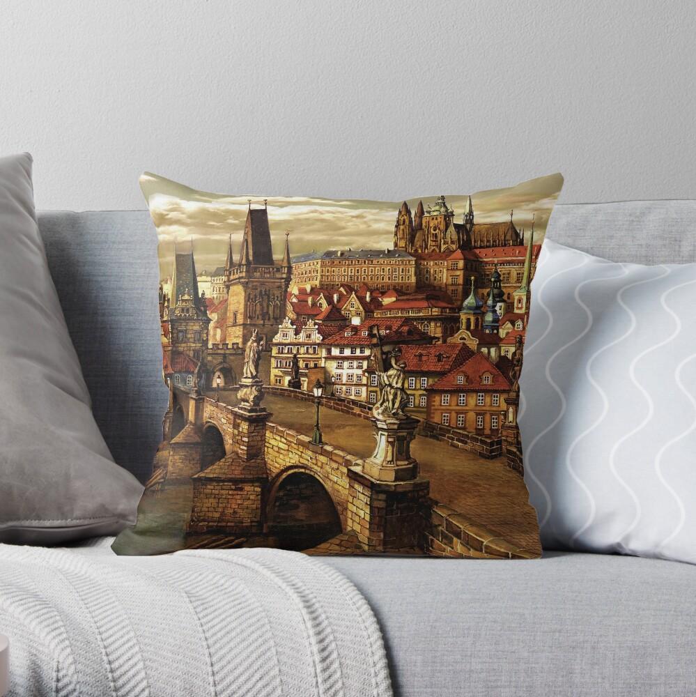 Prague Charles bridge  Dekokissen