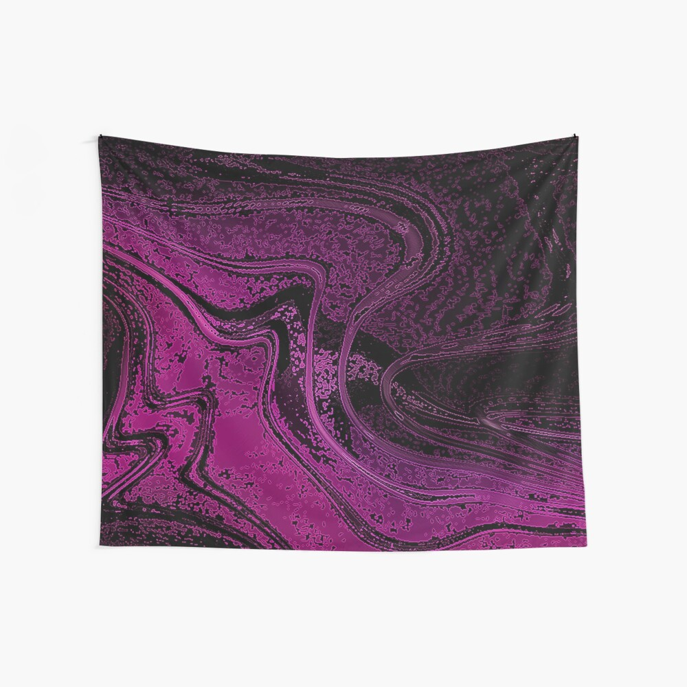 Dark Pink and Black Liquid Effect Print by xpressio