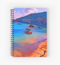 Mousehole Harbor, Cornwall - UK Spiral Notebook