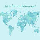 Lass uns eine Erlebnisweltkarte leben von blursbyai