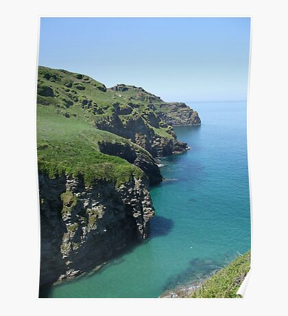 Bossiney cliffs!! North Cornwall! Poster