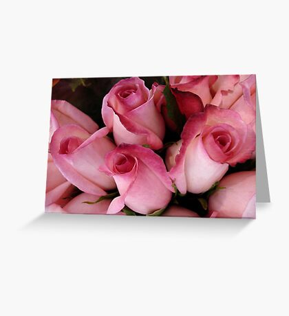 PRETTY PINK ROSEBUDS Greeting Card