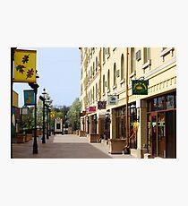 Downtown Waukesha Shops Photographic Print