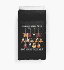 Too Many Guitars! Duvet Cover