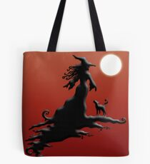 Witch's Silhouette - Prints and Cards Tote Bag