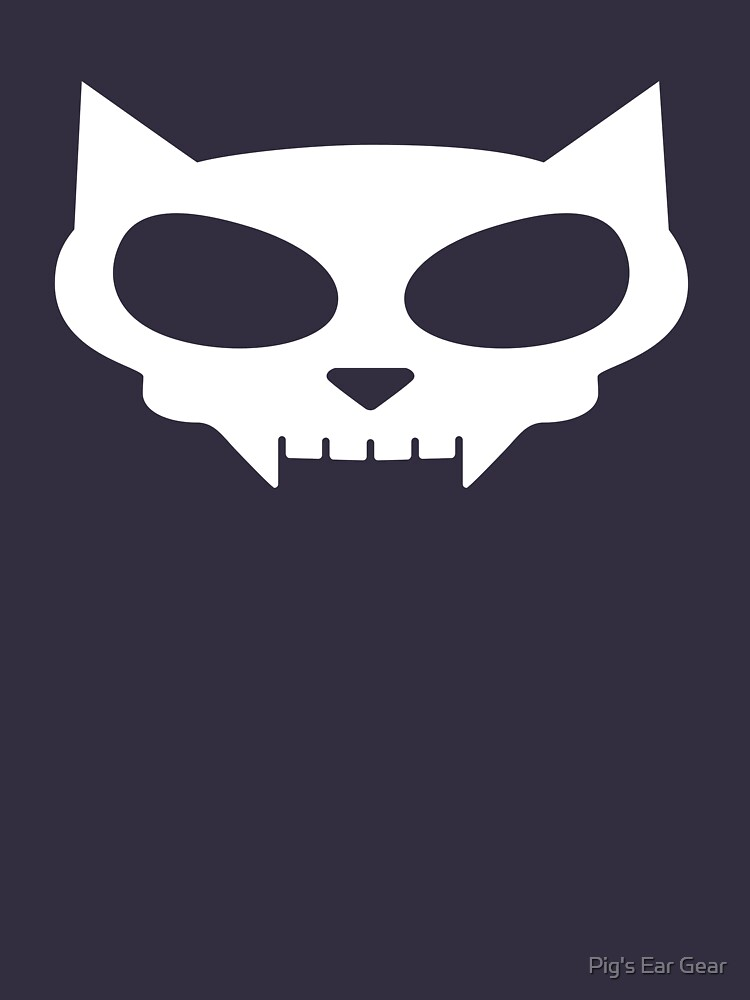 "cat skull"" t-shirts & hoodiespig's ear gear 
