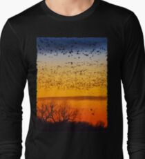 Swarm Setting – Sandhills over The Platte Long Sleeve T-Shirt