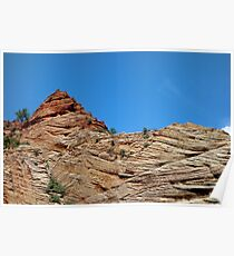 Zion Checkerboard Formations  Poster