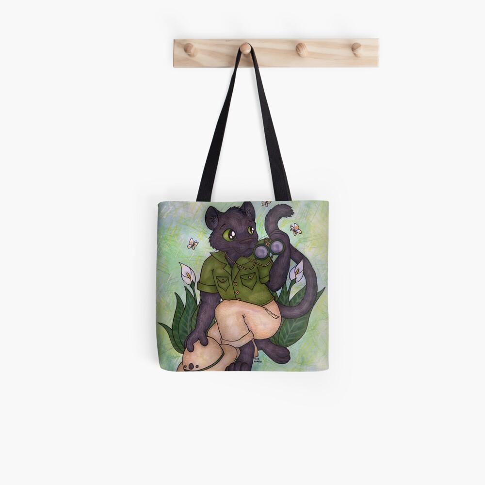 Panther On Safari Tote Bag