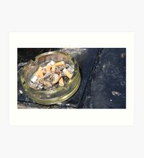 Seaside Ashtray Art Print