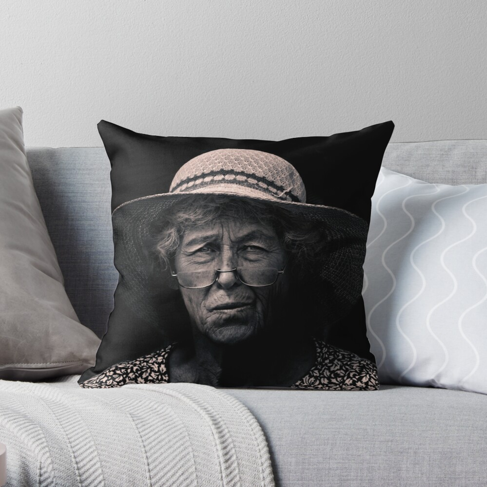 Another day, another wanton, lustful look Throw Pillow