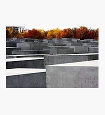 Somber Giants, Berlin Holocaust Memorial Photographic Print