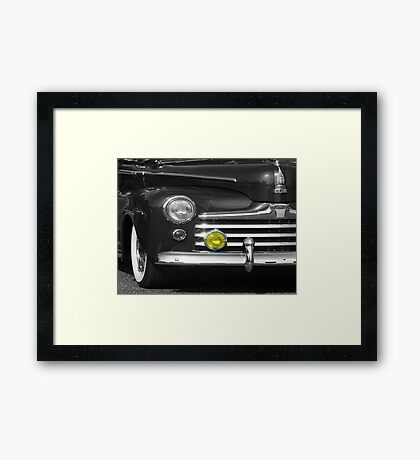 Classic with Yellow Light Framed Print
