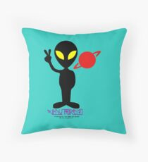 """Put away the GUNS!   We are NEIGHBORS!"" Throw Pillow"