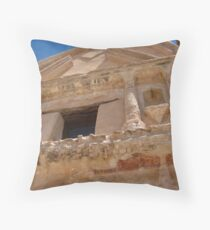 Tumacacori Mission Upper Facade Throw Pillow