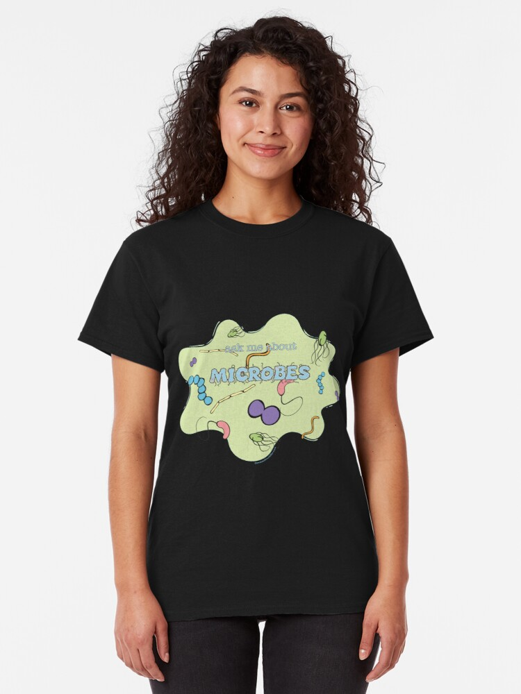Alternate view of Ask me about MICROBES Classic T-Shirt