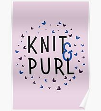 Knit and Purl, Purl and Knit Poster