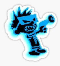 Spaceman Spiff - Black and Blue Sticker