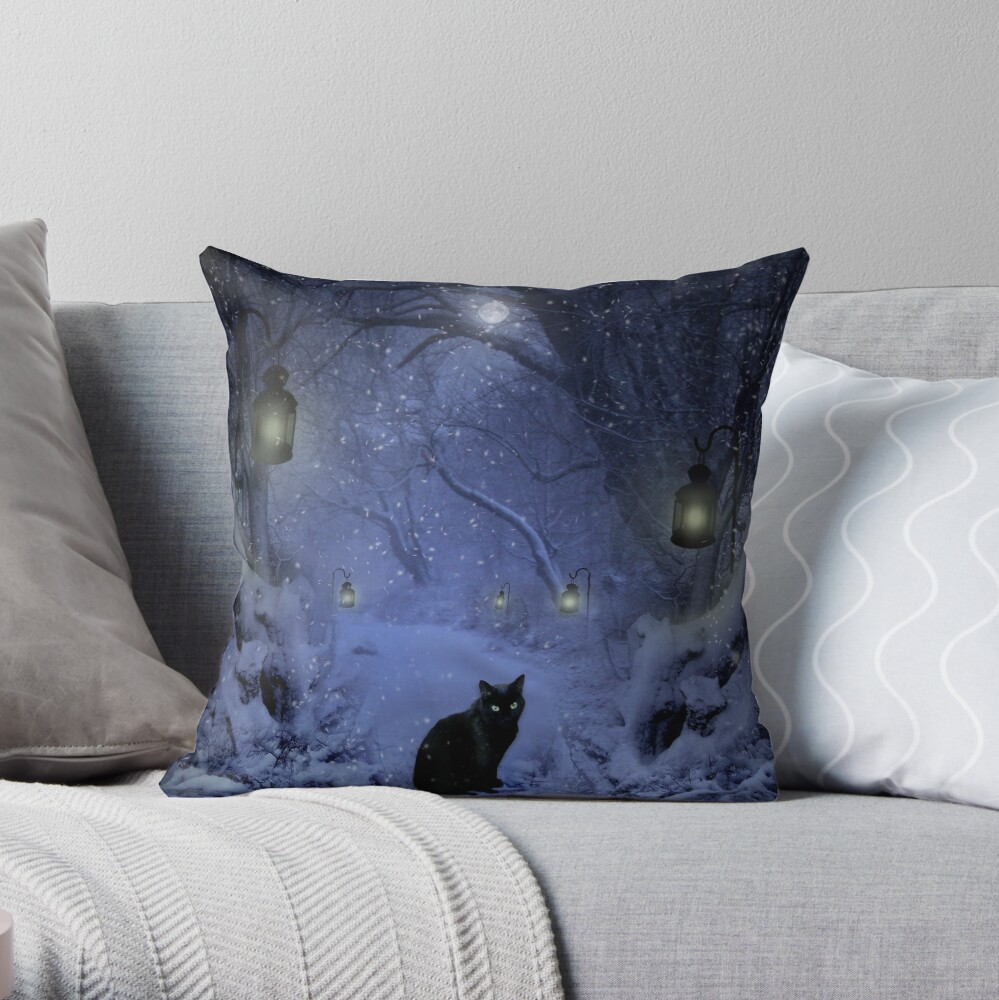 Frostar Midnight Throw Pillow