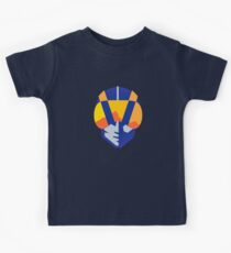 Blaues Las Vegas Fliegerlogo Kinder T-Shirt