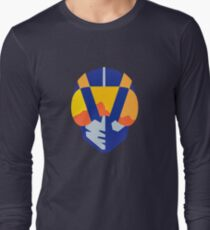 Camiseta de manga larga Logotipo de aviador de Las Vegas azul