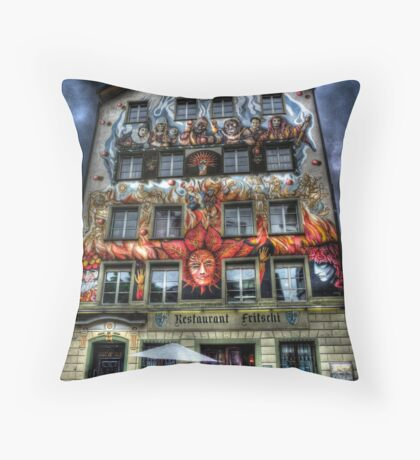 Where Wizards Dine (aka Restaurant Fritschi) Throw Pillow