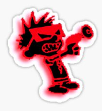 Spaceman Spiff - Red and Black Sticker