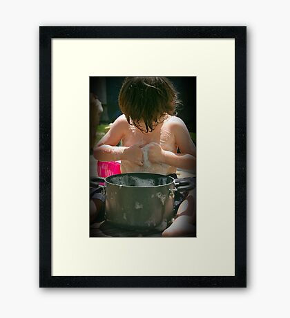 Washboard abs?   Framed Print