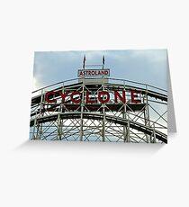 Astroland Cyclone Greeting Card