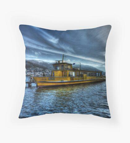 Winter Ferry Throw Pillow