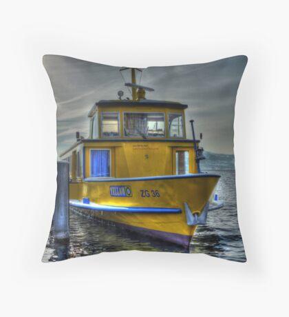 Winter Ferry II Throw Pillow