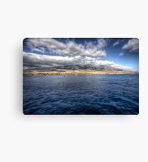 Maui HDR from a boat Canvas Print