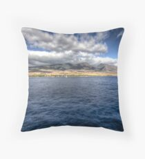 Maui HDR from a boat Throw Pillow
