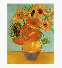 Vase with Twelve Sunflowers, Vincent van Gogh Photographic Print