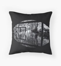 If Monet had seen in black and white Throw Pillow