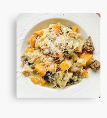 Butternut Squash & Sausage Pasta Canvas Print