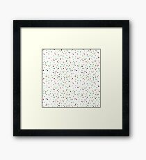 Funny and Cute Colorful Watercolor Dots pattern Framed Print
