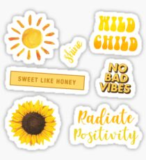 Yellow Sun Pack Sticker