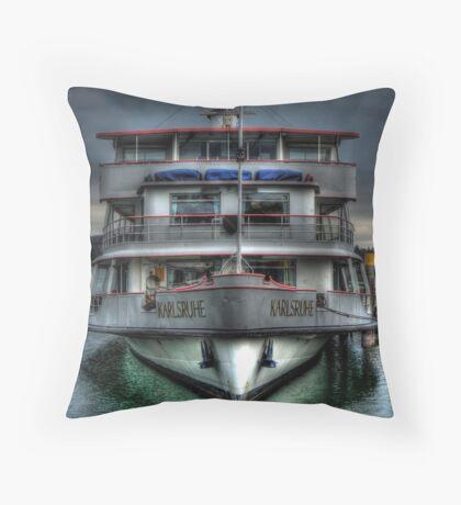 Karlsruhe Ferry Throw Pillow