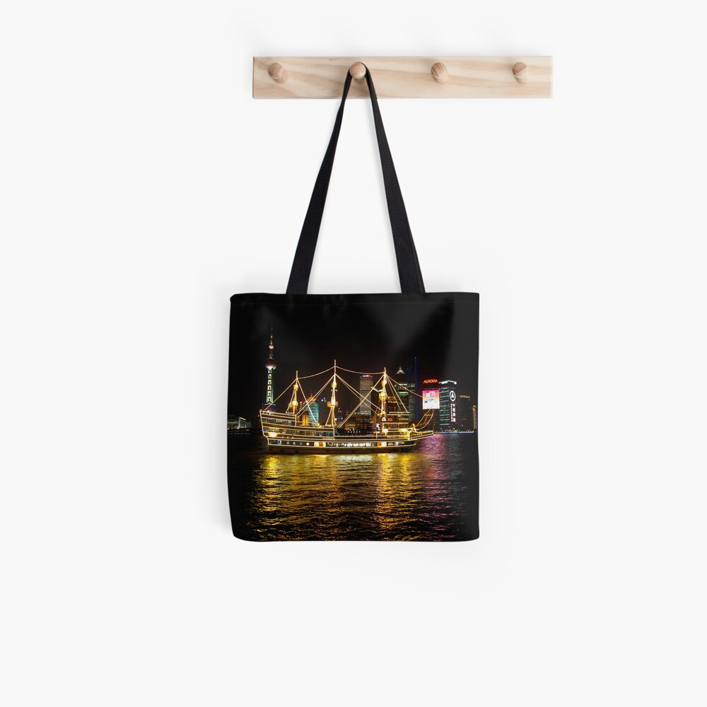 Shanghai Tall Ship Tote Bag