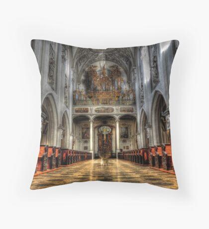 Pipe Organ - Lansberg Am Lech cathedral Throw Pillow
