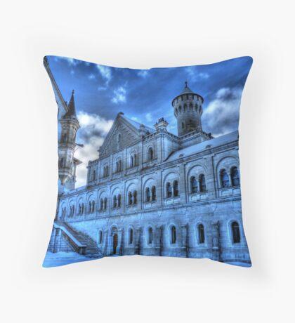 Neuschwanstein Knight's House Throw Pillow