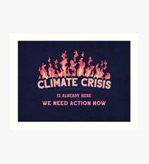 Climate Crisis Art Print