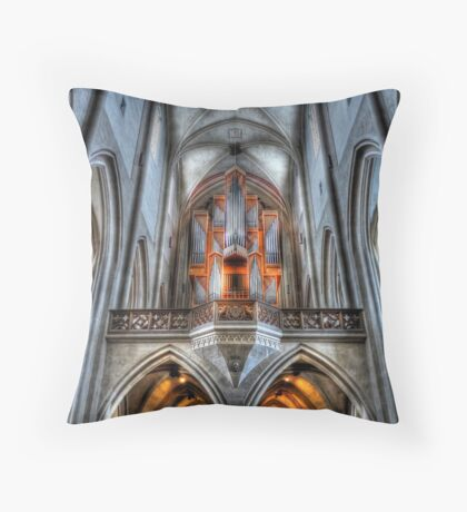 Pipe Organ - St. James Cathedral, Rothenburg ob der Tauber. Throw Pillow