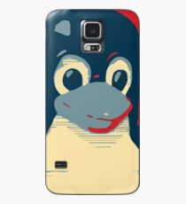 Linux Tux penguin poster head red blue  Case/Skin for Samsung Galaxy