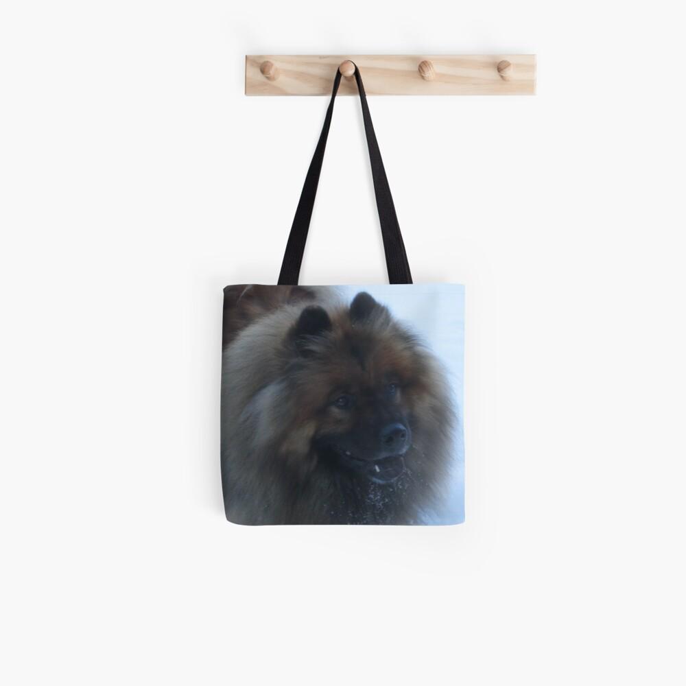 Eurasia Dog in the Snow Tote Bag
