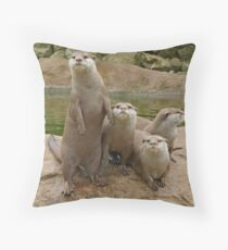 The power of otter Throw Pillow