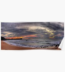 New Day - Warriewood Beach, Sydney (25 Exposure HDR Panoramic)- The HDR Experience Poster